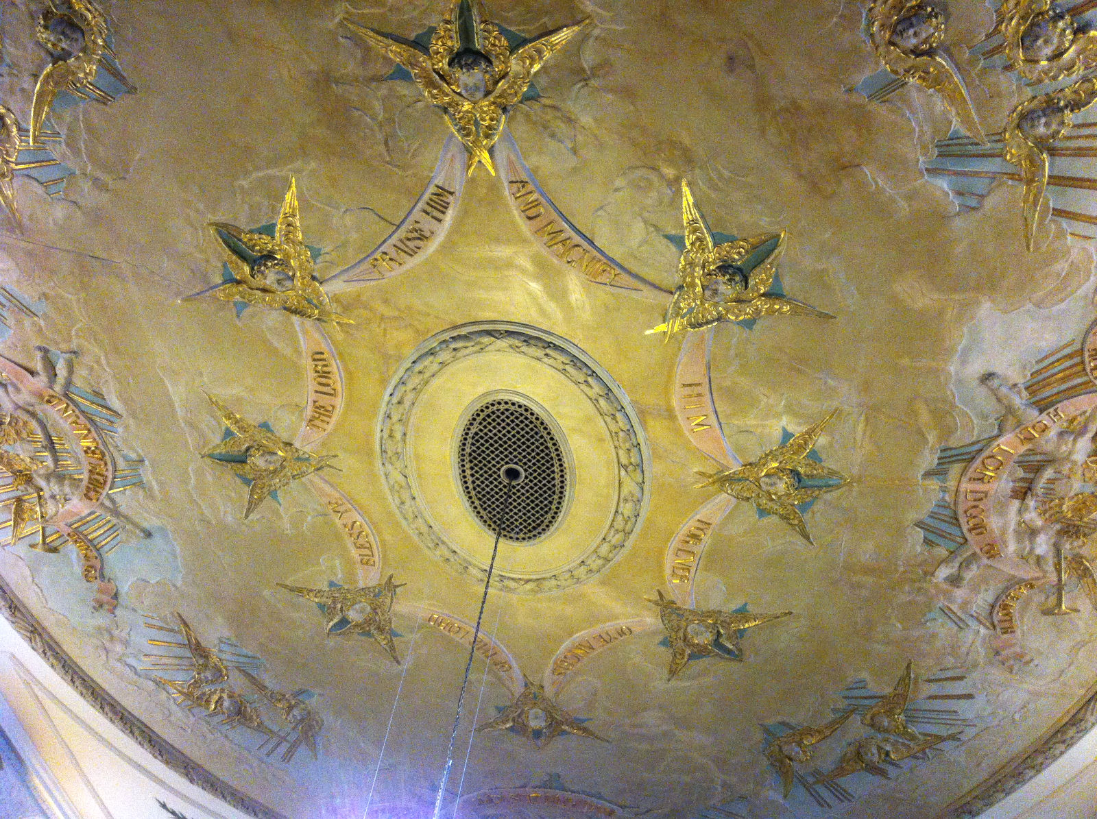 The beautiful ceiling of the Church of St George the Martyr