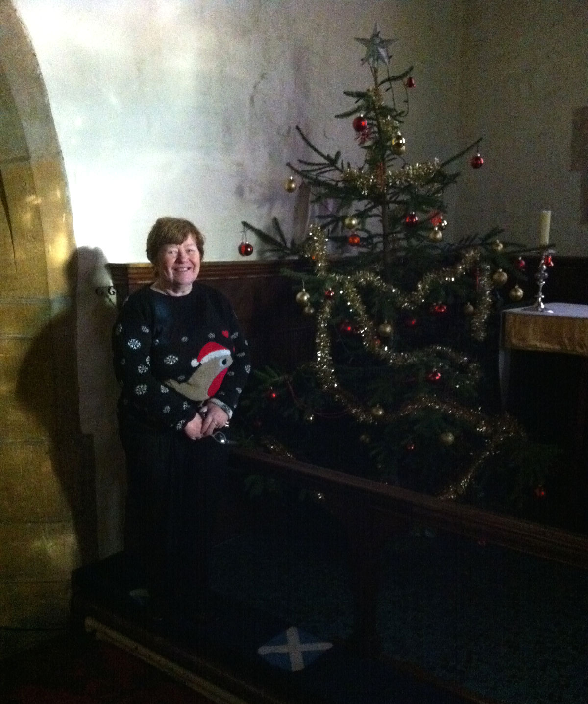 St Andrews Church in Hampton with Janet