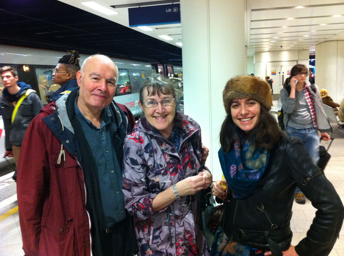 The Lee Family on my journey from Northampton to Birmingham