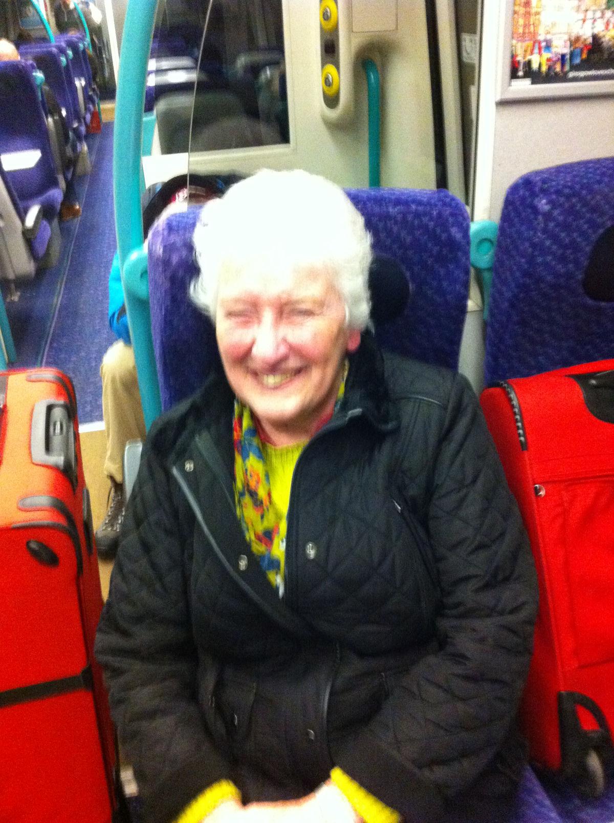 Margaret McVicar joining me for the final trek from Edinburgh