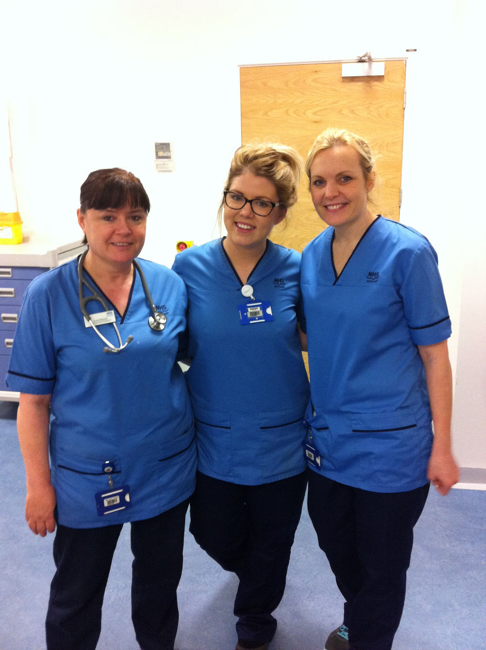 The wonderful Linda Tegan and Claire who attended me at the hospital
