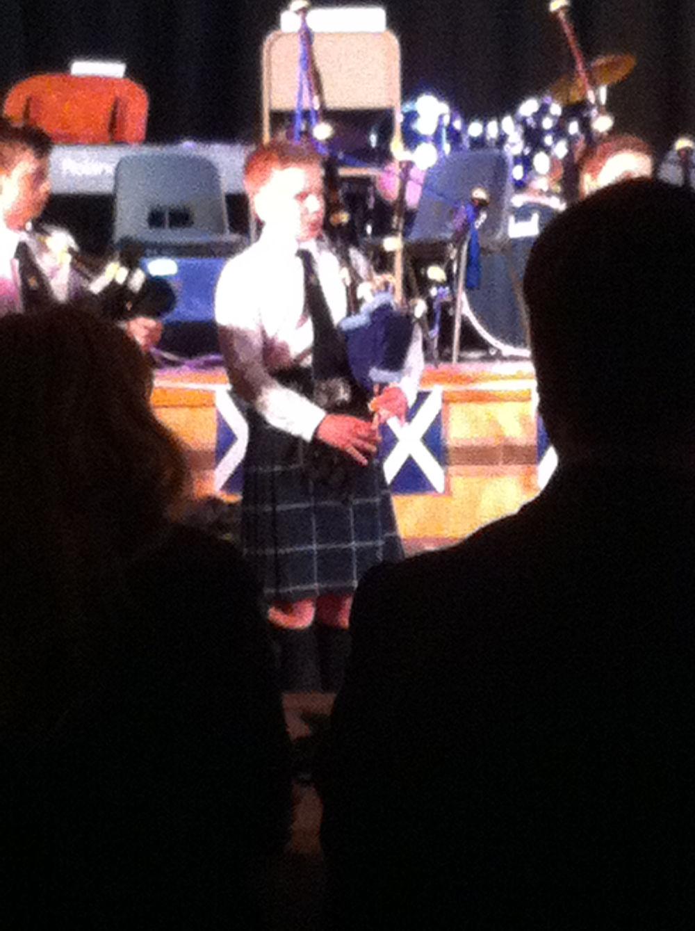 James performing