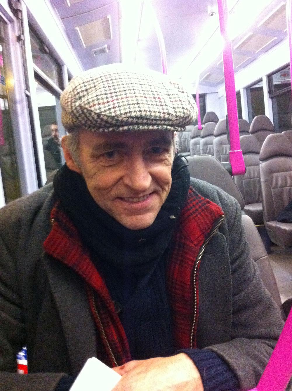 Sean on the bus