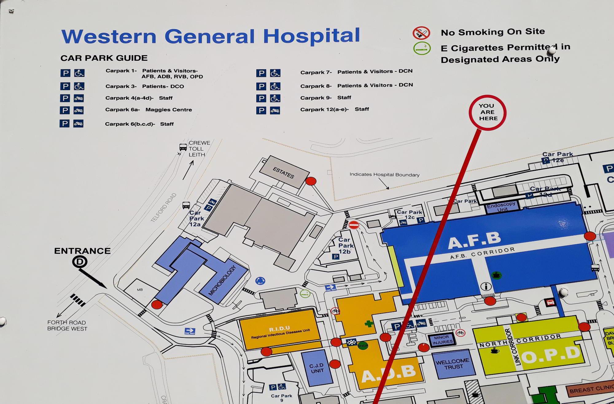 Western General Hospital Location Board