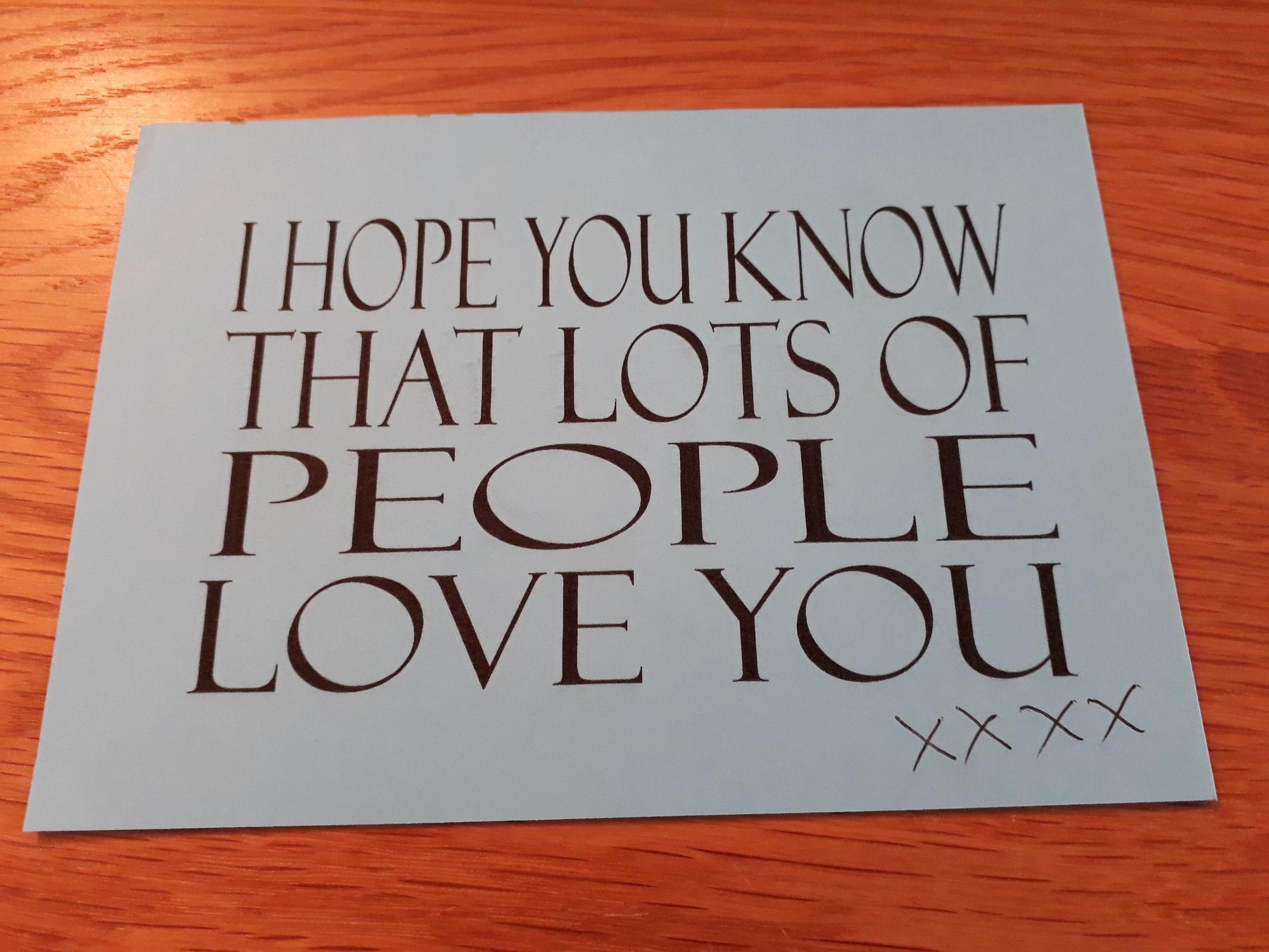 The Wonderful Card from Mirren
