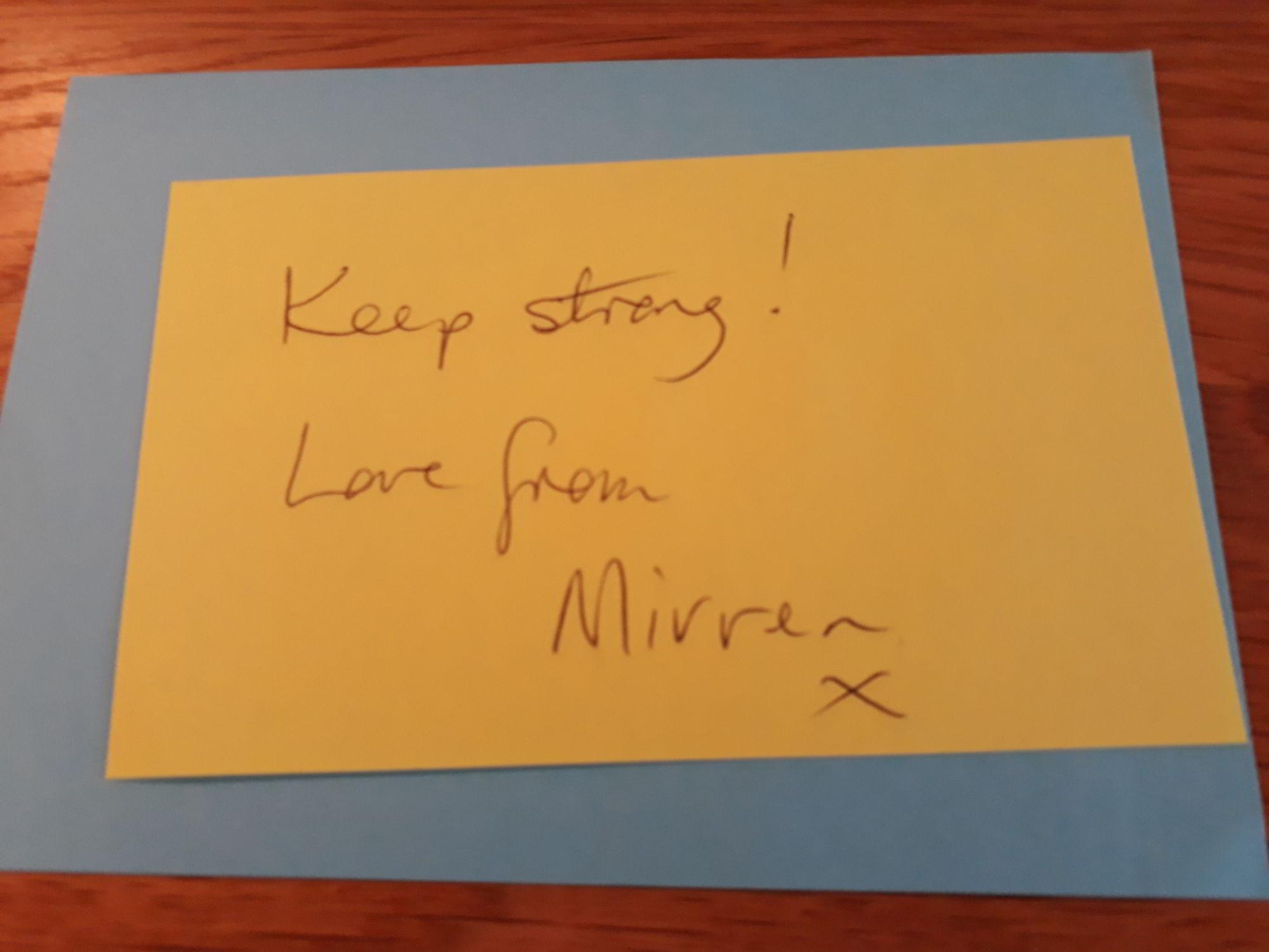 Mirren's fantastic words
