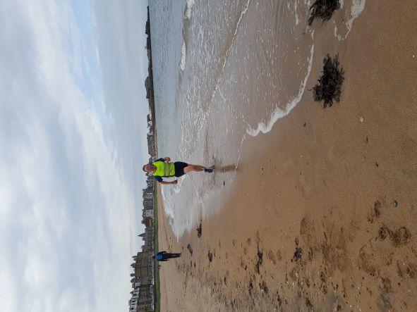 Me Loving Life As I Ran Along The Beach