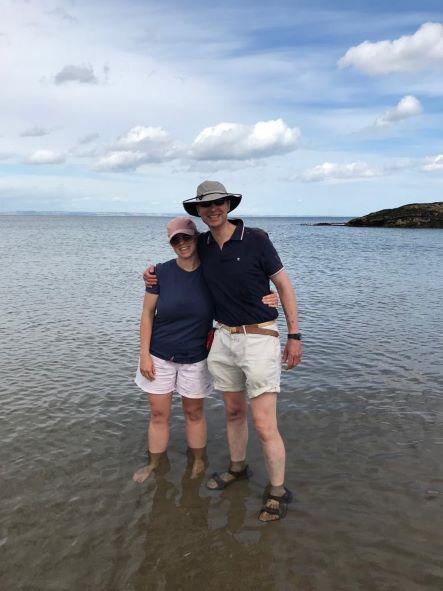 Sister Isla And I Enjoying North Berwick