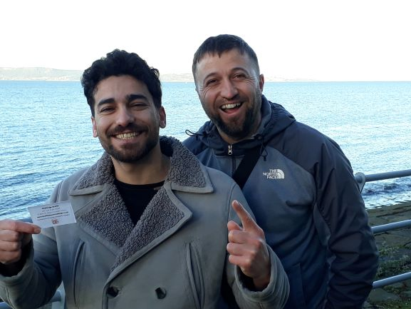 Sazar and Mitko, originally from Turkey, now happily settled and working in Granton, Edinburgh